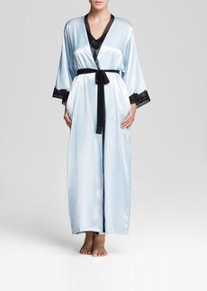 Oscar de la Renta Pink Label Charmeuse Long Robe