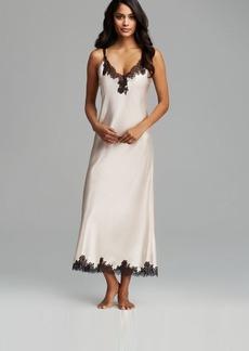 Oscar de La Renta Pink Label Lace Refinement Charmeuse Long Gown
