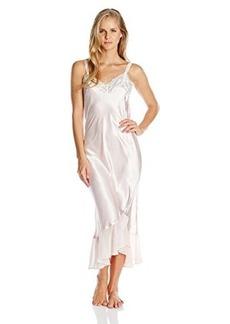 Oscar de la Renta Pink Label Women's Charmeuse and Georgette Long Nightgown