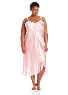 Oscar de la Renta Pink Label Women's Plus-Size Solid Charmeuse Long Gown