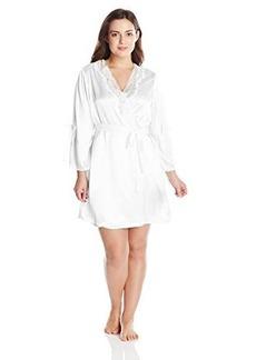 Oscar de la Renta Pink Label Women's Plus-Size Solid Charmeuse Short Wrap