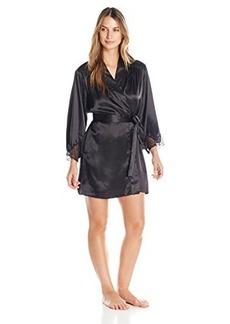 Oscar de la Renta Pink Label Women's Solid Charmeuse Short Robe