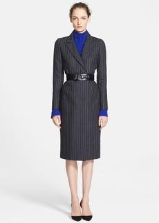 Oscar de la Renta Pinstripe Flannel Dress