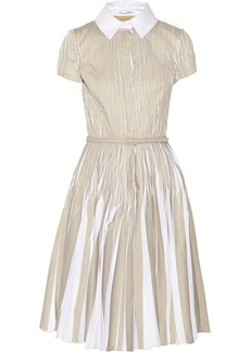 Oscar de la Renta Pintucked cotton-poplin dress