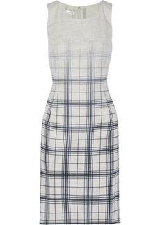 Oscar de la Renta Plaid angora-blend dress