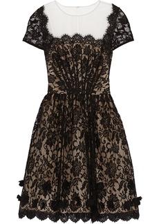 Oscar de la Renta Pleated lace dress