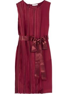 Oscar de la Renta Pleated silk-charmeuse dress