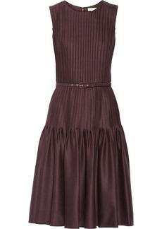 Oscar de la Renta Pleated wool-blend dress