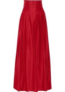 Oscar de la Renta Pleated woven skirt