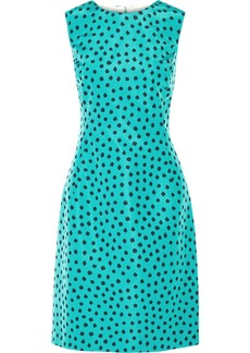 Oscar de la Renta Polka-dot silk-faille dress