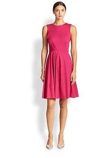 Oscar de la Renta Poplin Day Dress