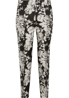 Oscar de la Renta Printed cotton-blend straight-leg pants