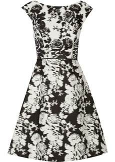 Oscar de la Renta Printed cotton-twill dress
