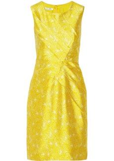 Oscar de la Renta Printed silk and cotton-blend dress