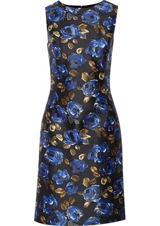 Oscar de la Renta Printed silk and wool-blend twill dress