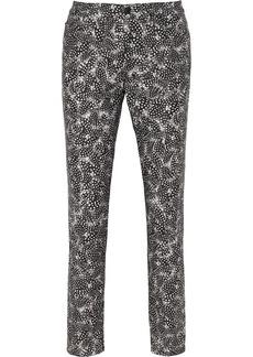 Oscar de la Renta Printed stretch-cotton skinny pants