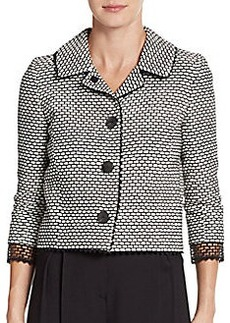 Oscar de la Renta Printed Tweed Jacket