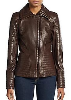 Oscar de la Renta Quilted Leather Jacket