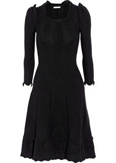 Oscar de la Renta Ruffle-trimmed cashmere sweater dress