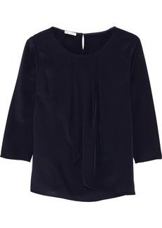 Oscar de la Renta Ruffled silk blouse