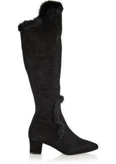 Oscar de la Renta Salma suede knee boots