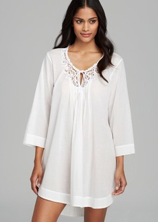 Oscar de La Renta Signature Filigree Garden Cotton Tunic
