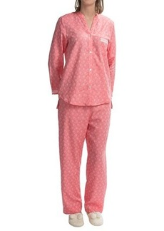 Oscar de la Renta Signature Jacquard Pajamas - Turkish Cotton, Long Sleeve (For Women)