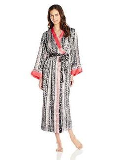 Oscar de la Renta Signature Women's Allover Printed Long Robe