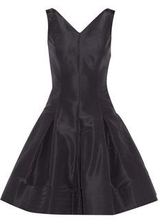 Oscar de la Renta Silk-faille mini dress