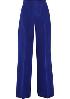 Oscar de la Renta Silk-faille wide-leg pants