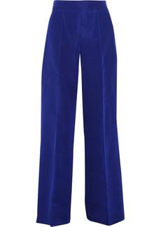 Oscar de la Renta Silk-faille wide-leg pants