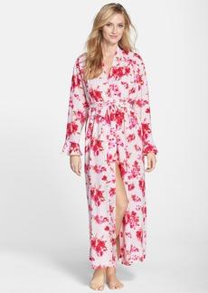 Oscar de la Renta Sleepwear 'Amourette Bouquet' Long Robe
