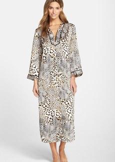 Oscar de la Renta Sleepwear Cheetah Print Caftan