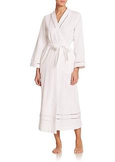 Oscar de la Renta Sleepwear Luxe Spa Long Cotton Robe