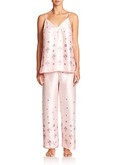 Oscar de la Renta Sleepwear Printed Pajamas