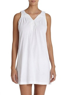 Oscar de la Renta Sleepwear Soft Scroll Pima Cotton Chemise