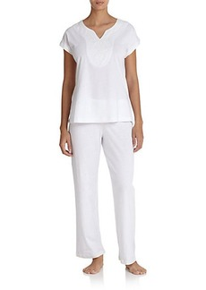 Oscar de la Renta Sleepwear Soft Scroll Pima Cotton Pajamas