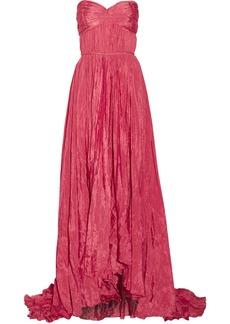 Oscar de la Renta Strapless crinkled-taffeta gown