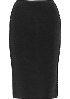 Oscar de la Renta Stretch-knit pencil skirt