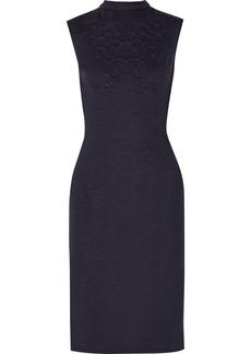 Oscar de la Renta Stretch wool-blend dress