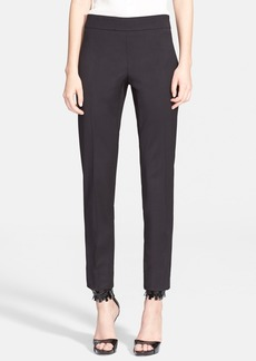 Oscar de la Renta Stretch Wool Slim Pants