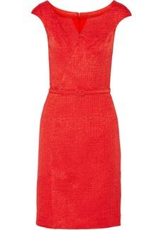 Oscar de la Renta Textured cotton-blend dress