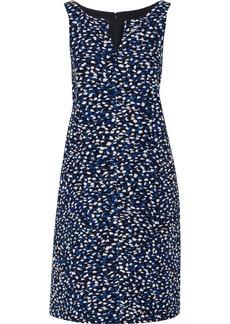 Oscar de la Renta Textured-silk dress