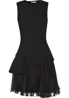 Oscar de la Renta Tiered wool-crepe mini dress