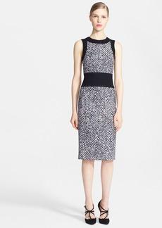 Oscar de la Renta Tweed Pencil Dress