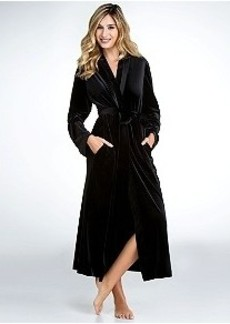 Oscar de la Renta Velvet Knit Robe