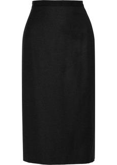Oscar de la Renta Wool-blend midi skirt