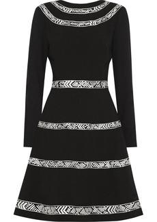 Oscar de la Renta Wool-crepe dress