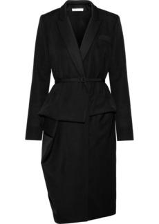 Oscar de la Renta Wool wrap suit dress