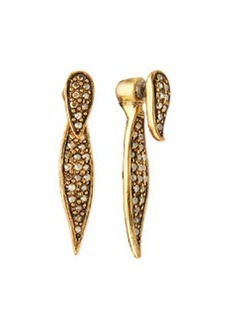 Pave Crystal Spike Earrings   Pave Crystal Spike Earrings